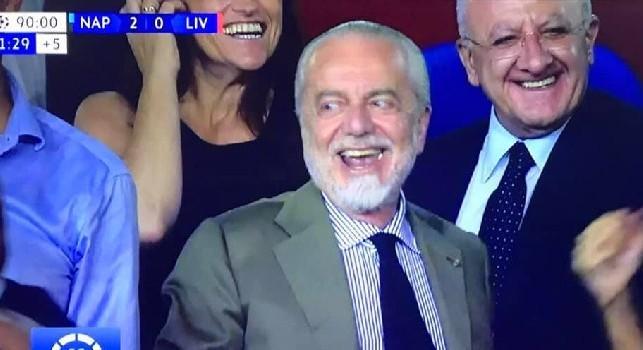 De Laurentiis: Una partita straordinaria! Sono orgoglioso di essere il vostro Presidente! Forza Napoli Sempre!!