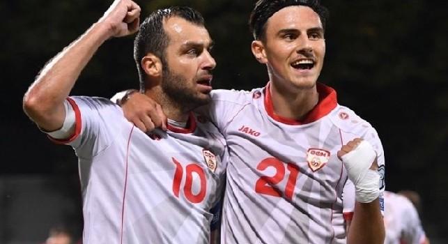 Formazioni ufficiali di Macedonia-Slovenia: Elmas dal primo minuto insieme a Pandev