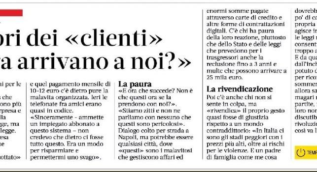 Ziliani attacca Gazzetta: Che scoop, colto un dialogo tra clienti del pezzotto: non a Vercelli o Rovigo, ma a Napoli