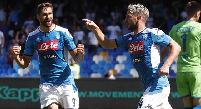 Pagelle Napoli-Brescia: Mertens ad un passo da Diego, Maksimovic inedito assistman! Zielinski molle, dubbio Ghoulam. Elmas caotico