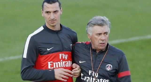 Ibrahimovic si propone al Napoli: Vorrei un'esperienza in azzurro, con me il San Paolo sarebbe sempre pieno: Ancelotti è un grande