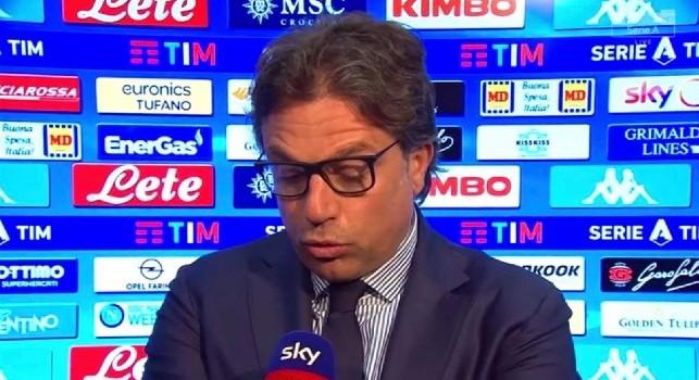 Giuntoli a Sky: Non voglio parlare di Ancelotti, stasera testa solo al campo. Genk? Adesso ha una soluzione in più