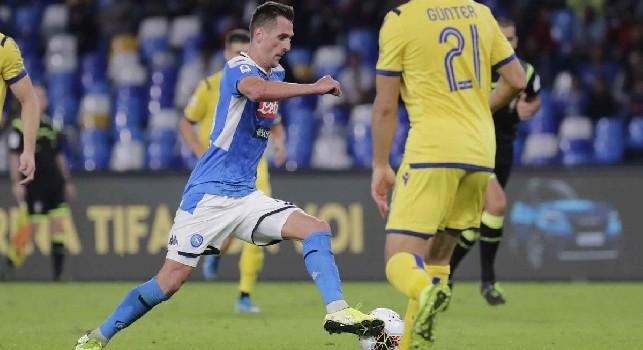 L'Arena sentenzia: il Napoli ha Milik e l'Hellas ha Stepinski, così si spiega la sconfitta al San Paolo