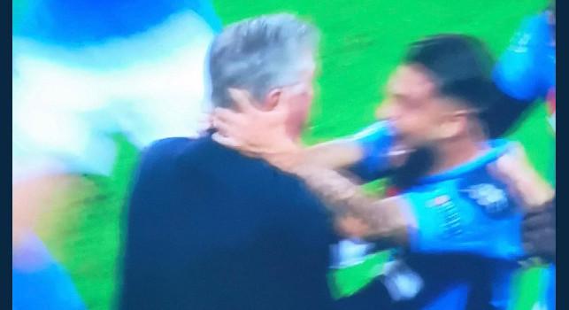 Salisburgo-Napoli 2-3, Insigne riporta in vantaggio gli azzurri! Abbraccio con Ancelotti