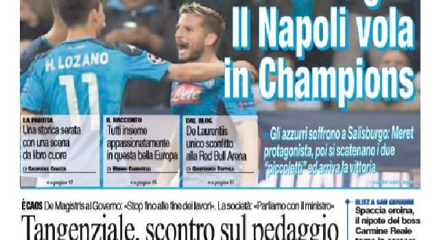 Prima Pagina de Il Roma: Mertens-Insigne, il Napoli vola in Champions