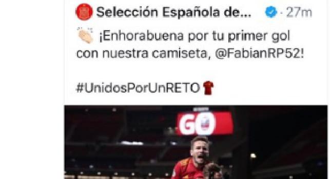 La SSC Napoli celebra Fabian: Il mago segna il suo primo gol con la Spagna [FOTO]
