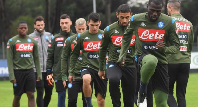SSC Napoli, il report della seduta: rientrati 6 giocatori dalle Nazionali, lavoro in parte differenziato per Allan. Personalizzato per Tonelli