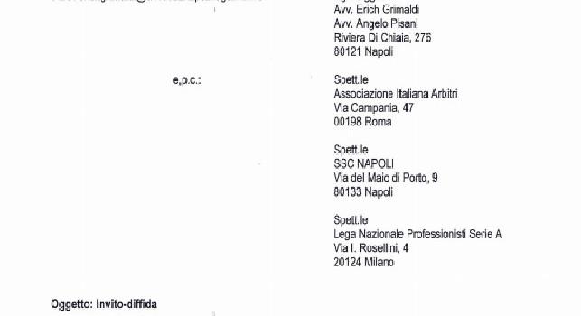 Avvocato Grimaldi: Partita falsata tra Napoli e Atalanta, il club non ha proposto ricordi senza alcun rispetto dei propri tifosi