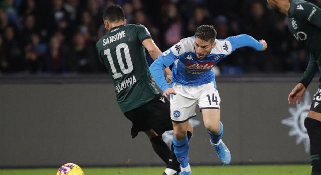 Bologna in vantaggio al San Paolo a dieci minuti dal termine: la rete è di Sansone