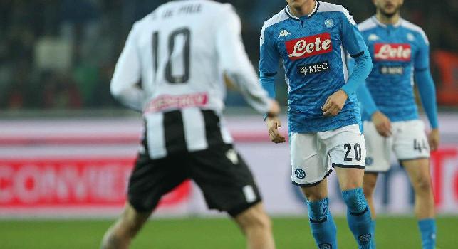 Zielinski rimette la gara in parità al 69': Udinese punito dalla legge dell'ex