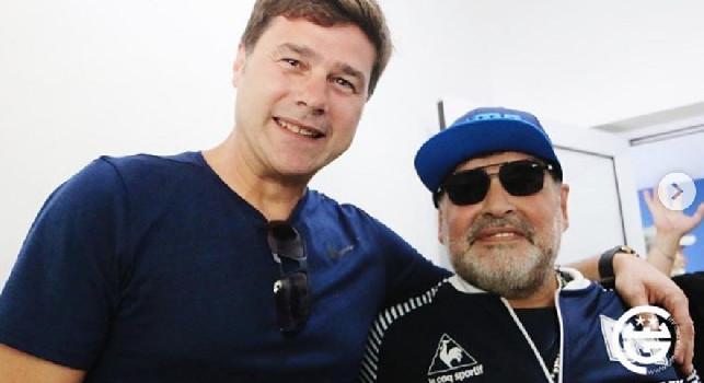 Visita per Maradona, ecco Pochettino: Benvenuto! [FOTO]