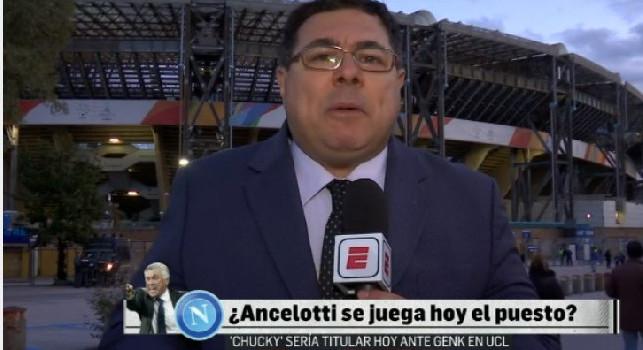 ESPN, Martinez: Situazione paradossale a Napoli, Ancelotti andrà via anche in caso di vittoria contro il Genk