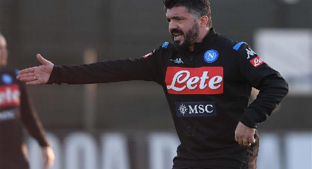 Levatevi quella paura dalla faccia, vi voglio aggressivi e sicuri!: Gattuso carica il Napoli, spunta il discorso alla squadra