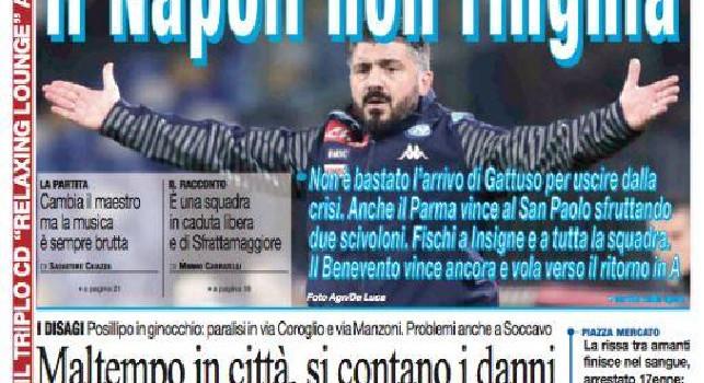 Prima pagina il Roma: Il Napoli non ringhia [FOTO]