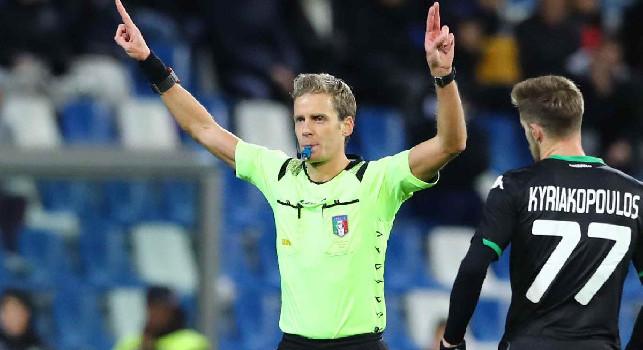 Gazzetta boccia Chiffi in Napoli-Fiorentina: esagerato il giallo per simulazione a Insigne, il contatto con Milenkovic c'è stato