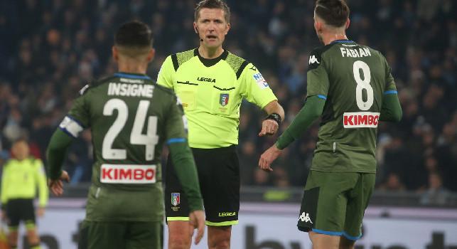 Serie A, gli arbitri della sesta giornata di ritorno: Brescia-Napoli a Orsato di Schio