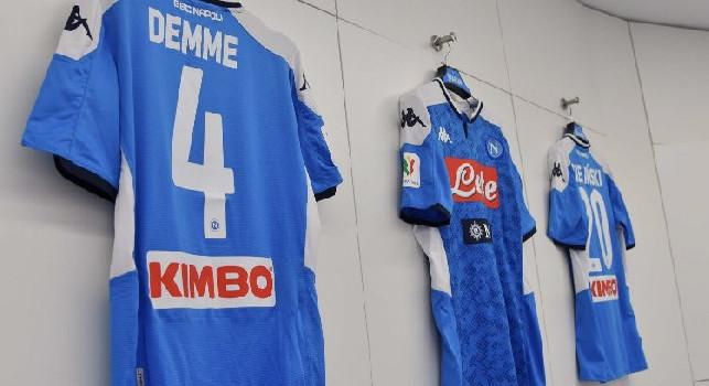 Demme alla prima col Napoli, ecco la sua maglia negli spogliatoi [FOTO]