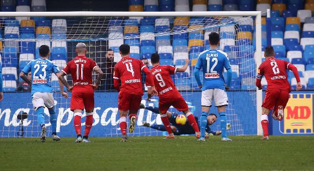 Da Perugia - Eliminati a testa alta, la squadra ha reso onore agli oltre 600 tifosi perugini al San Paolo