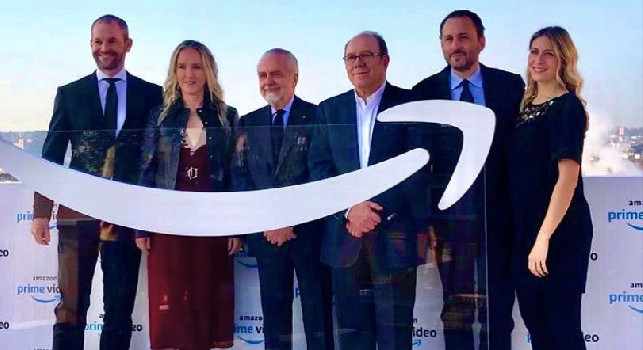 Nuova frontiera per il Napoli: ipotesi di sponsorizzazione con Amazon? De Laurentiis distributore di un affare insolito e inconsueto