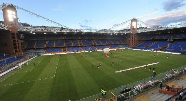 Sampdoria-Napoli, biglietti del Settore Ospiti in vendita: il prezzo è di 25 euro