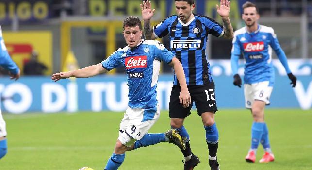 Inter, Sensi ko: trauma contusivo contro il Napoli, infrazione allo scafoide per il centrocampista