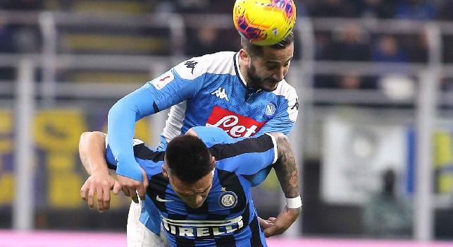 Inter-Napoli 0-1, le statistiche: azzurri cinici, i nerazzurri non concretizzano [GRAFICO]