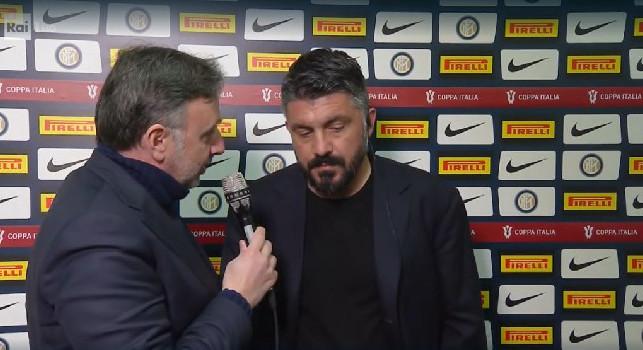"""Gattuso alla Rai: """"Voglio vedere questo atteggiamento per almeno altre dieci gare! Se difendiamo da sagome non andremo da nessuna parte. Su i forfait di Insigne e Koulibaly..."""""""