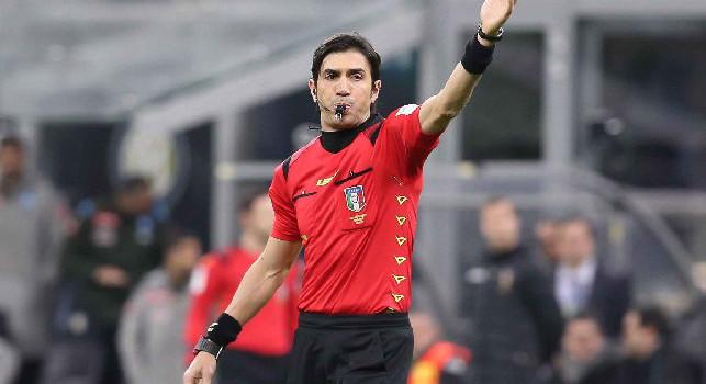 Napoli-Udinese, arbitra Calvarese! Tutte le designazioni in A, Banti al Var di Sassuolo-Juve. Fermi Doveri e Mazzoleni