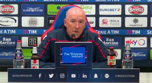 Cagliari, Maran in conferenza: Non abbiamo sofferto tanto, la differenza l'ha fatta il goal di Mertens. Quando ho visto Inter-Napoli ho pensato...