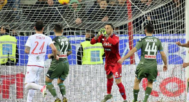 Cagliari, il commento del club sul sito ufficiale: Gara equilibrata, decide un colpo di biliardo targato Mertens
