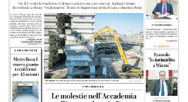 Repubblica, Prima pagina - 20 febbraio 2020