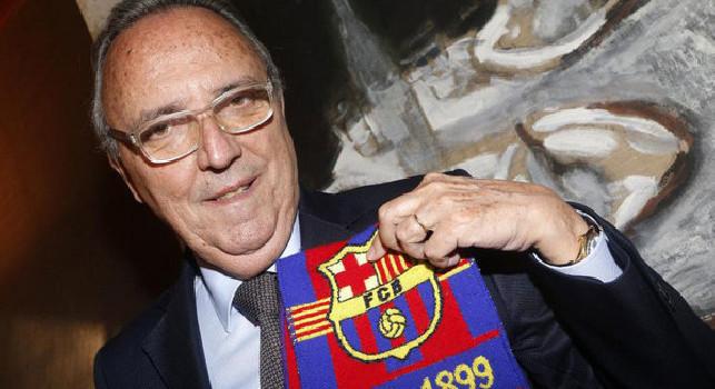 Barcellona, l'ex presidente Gaspart: Non bisognerà sottovalutare il Napoli: Gattuso è un combattente e l'ha dimostrato anche in panchina