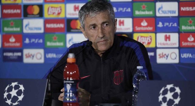 Barcellona, Setien in conferenza: Risultato buono, ci è costato tanto creare occasioni: il Napoli ha segnato nell'unica azione del primo tempo. Il pareggio con gol va bene per il ritorno [VIDEO CN24]