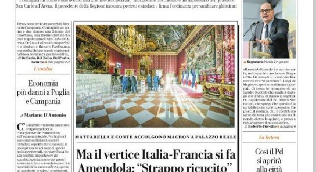 Repubblica, Prima pagina - 27 febbraio 2020