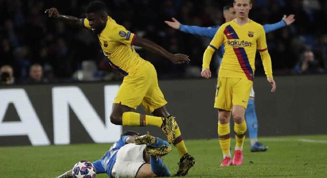 Pusceddu: Le mie percentuali su Barcellona-Napoli: senza pubblico è tutta un'altra storia
