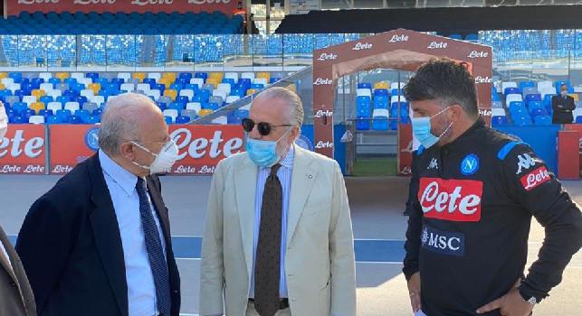 Il Napoli sostiene la candidatura di De Luca, bufera su De Laurentiis nel giorno del voto! Il Mattino: naturale una liason tra i due