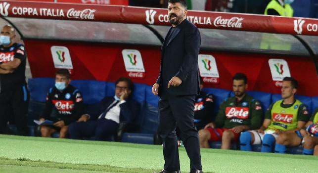 Napoli-Roma, quattro cambi per Gattuso: rivoluzionato l'attacco
