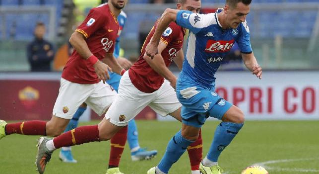 Napoli-Roma, le probabili formazioni: Milik in vantaggio su Mertens, dal 1\' si rivede Manolas! Fonseca con Dzeko, Veretout e Mancini titolari