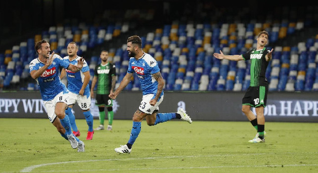 Napoli-Sassuolo, statistiche primo tempo