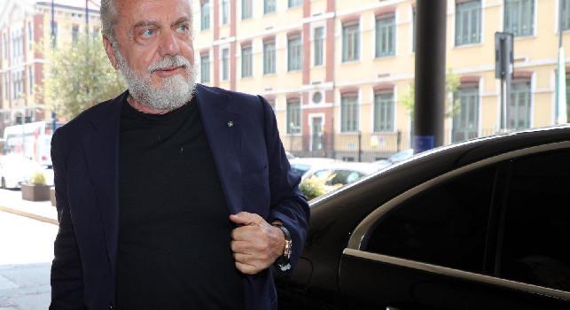 Cdm - De Laurentiis ha ribadito alla squadra i sacrifici del club nella difficile situazione economica