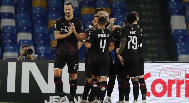 Milan in vantaggio: Ibra anticipa Koulibaly e batte Meret sul secondo palo