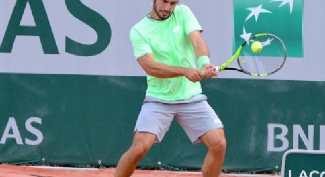 Tweet SSC Napoli: Complimenti a Lorenzo Giustino che si è qualificato al secondo turno del Roland Garros