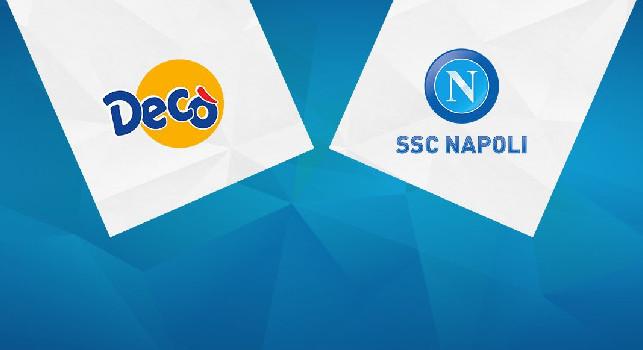 Decó sponsor istituzionale della SSC Napoli, si rinnova la collaborazione tra le due società: il comunicato