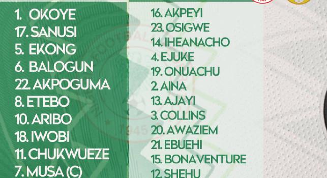 Nigeria-Sierra Leone, Osimhen parte titolare! [FOTO]
