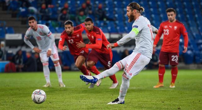 Svizzera-Spagna 1-1: doppio rigore sbagliato per Sergio Ramos! Fabián in campo 56' e primo ad essere sostituito
