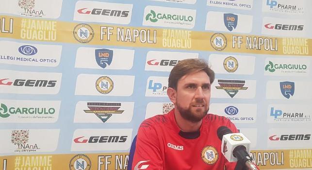 """Calcio a 5, Ferri e il momento del Napoli: """"Sono settimane particolari, ma il gruppo reagisce bene ad ogni difficoltà"""""""
