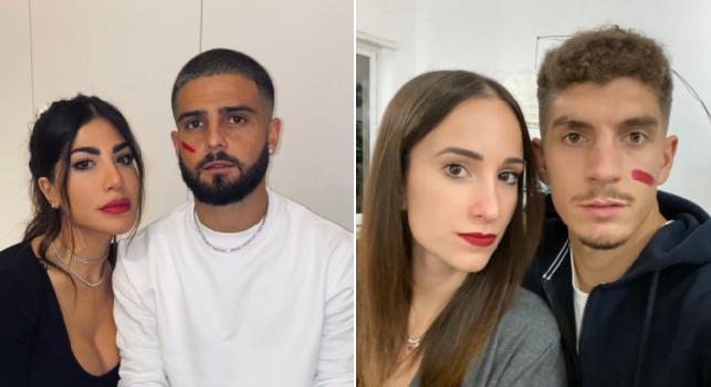 Un rosso alla violenza, anche il Napoli partecipa alla campagna in difesa delle donne: Insigne e Di Lorenzo testimonial [FOTO]