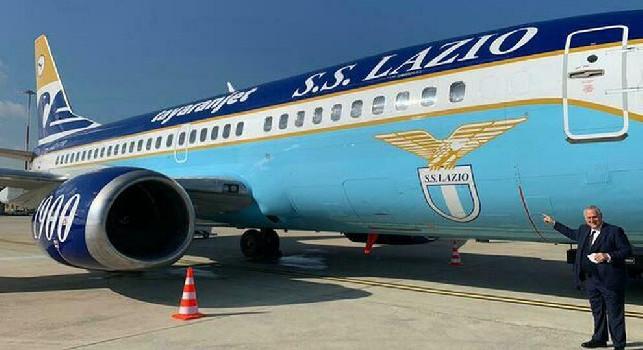 Lazio, sfortunato il primo volo dell'aereo brandizzato: giocatori spaventati, ritorno a Roma solo a mezzogiorno