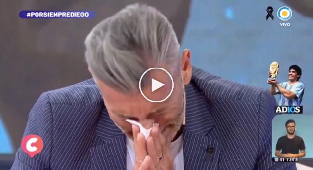 Maradona, Goycochea scoppia in lacrime in diretta: La morte di Diego mi ha tolto un pezzo di vita [VIDEO]