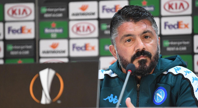Gattuso in conferenza: Per vincere domani abbiamo bisogno di un grande Napoli, siamo consapevoli che domani non sarà facile! All\'andata...